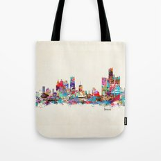 detroit michigan skyline Tote Bag