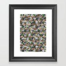CUBOUFLAGE MULTI (LARGE) Framed Art Print