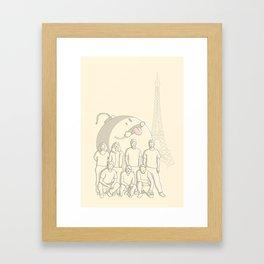 Photobomb Framed Art Print