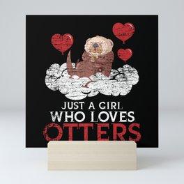 Otter Love Of Animals Mini Art Print