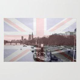 London Skyline and Union Jack Flag  Rug