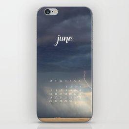 June 2017 Calendar iPhone Skin