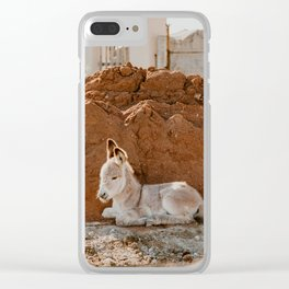 Baby Donkey Clear iPhone Case