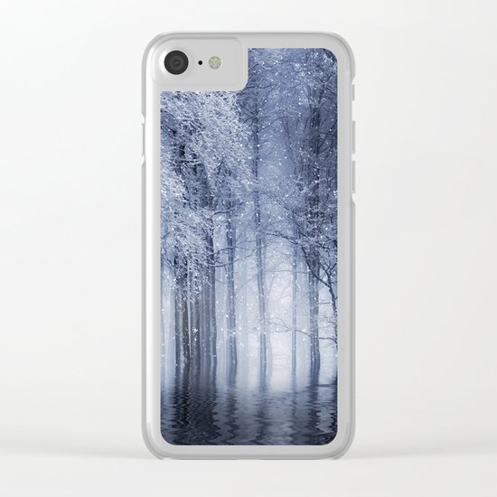 Mystical Winter Lake Clear iPhone Case