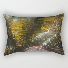 Into the Seychellian leaves Rectangular Pillow