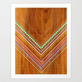 Aztec Arbutus Art Print