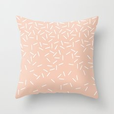 Sprinkles - in Peach Throw Pillow
