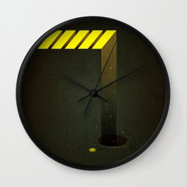 Asphalt: Facebook Shapes & Statuses Wall Clock