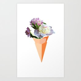 Ice Cream Bouquet Art Print