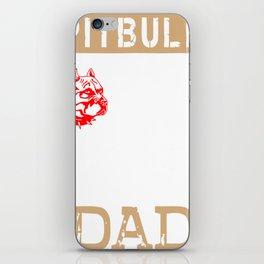 Mens Proud Pitbull Dad red iPhone Skin