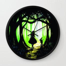 alice and rabbits Wall Clock