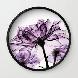 blush purple rose Wall Clock