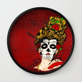 The Dead Skull Face Painting Wall Clock