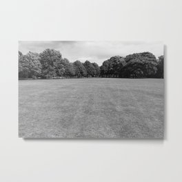 Blackweir Fields, Bute Park, Cardiff (Black and White) Metal Print
