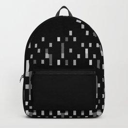 Black and White Matrix Patterned Design Backpack
