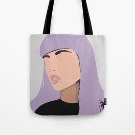 Harlow - portrait of a woman with purple hair Tote Bag