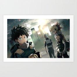 Boku no Hero Academia My Hero Academia Art Print