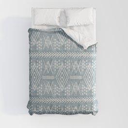 vintage moroccan - dusty blue Comforters