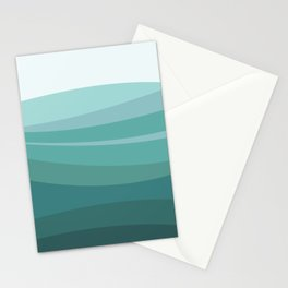 Deep green water, wave pattern, digital illustration Stationery Cards