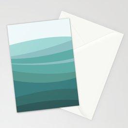 Deep green water, wave pattern, digital illustration Stationery Cards