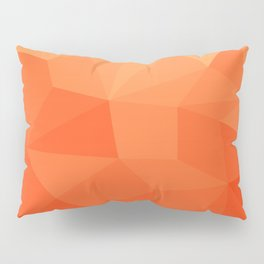 Abstract Geometric Gradient Pattern between Pure Red and very light Orange Pillow Sham