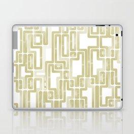 Labyrinth Golden lines Laptop & iPad Skin