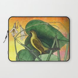 Orioles with Catalpa Tree, Natural History, Vintage Botanical Collage Laptop Sleeve