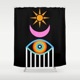 Summer Totem Shower Curtain