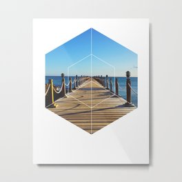 Ocean Walk - Geometric Photography Metal Print