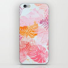 Tropical Palms in Citrus iPhone & iPod Skin
