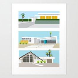 mid-centery house one, three, four Art Print