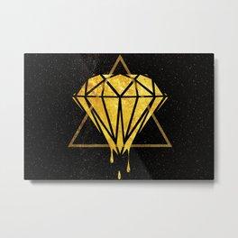 Gold Universe Metal Print
