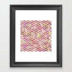 FLORAL CHEVRON Framed Art Print