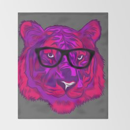 Hipster Tiger Throw Blanket