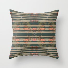 FLORAL BLINDS Throw Pillow