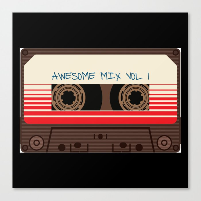 awesome mix vol 1 new hot 2018 CD love cute sticker cover iphone pattern  casate art support design Canvas Print by abllo  0b5295ddda1
