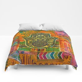 Boho & Batik Hamsa Comforters