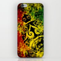 rasta iPhone & iPod Skins featuring Rasta Honu by Lonica Photography & Poly Designs