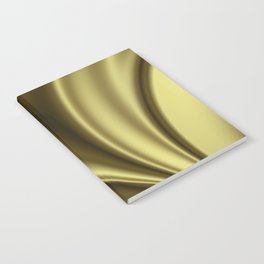 Abstract Fractal Colorways 02 Simple Gold Notebook