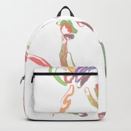 Multicolor horse's head Backpack