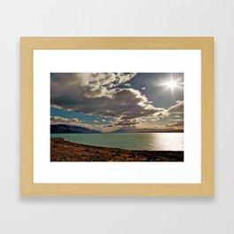Lake Pukaki: Rays of Sunshine Framed Art Print