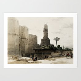 Gate of Victory, Egypt (1846) Art Print