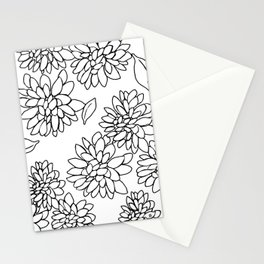 floating dahlias Stationery Cards