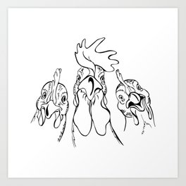 three comrades Art Print