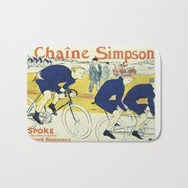 Vintage poster - La Chaine Simpson Bath Mat