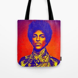A digitally drawing of Prince (colour) Tote Bag