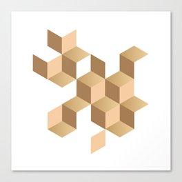 cubes deconstruction Canvas Print