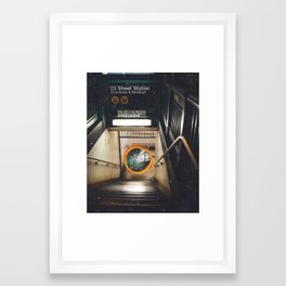 New York City Subway Portal to the Forest Framed Art Print
