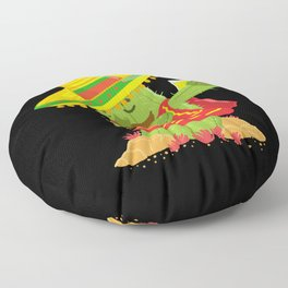 Dabbing Cactus With Sombrero Floor Pillow