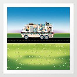 Quiltmobile Art Print